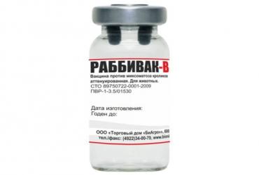 Раббивак-В Вакцина против миксоматоза кроликов 10 доз
